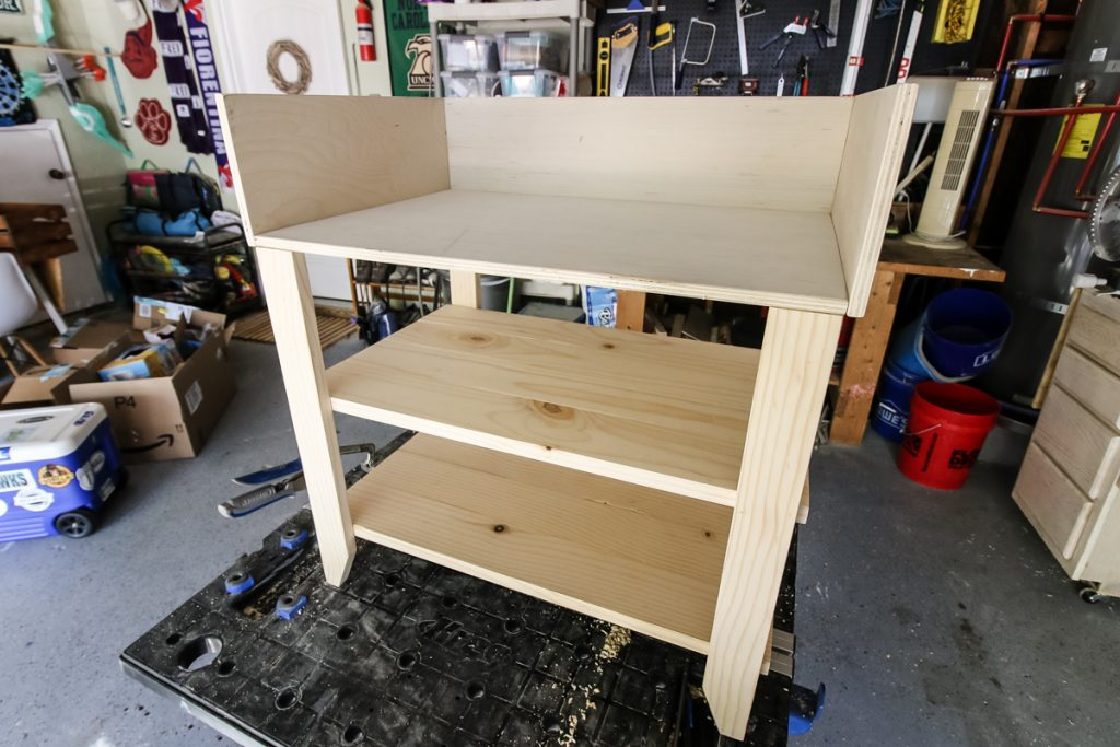 Nightstand base assembled