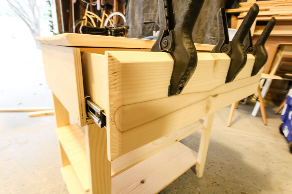 Gluing on drawer front