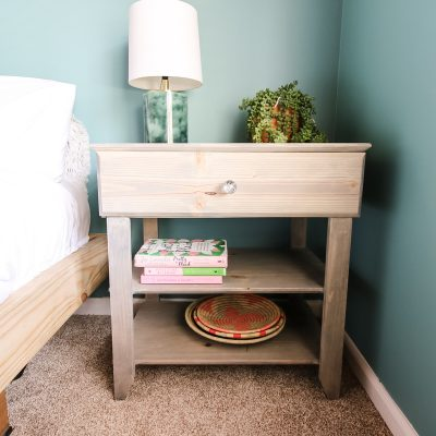 How to Build a DIY Nightstand with a Drawer – FREE PDF Plans!