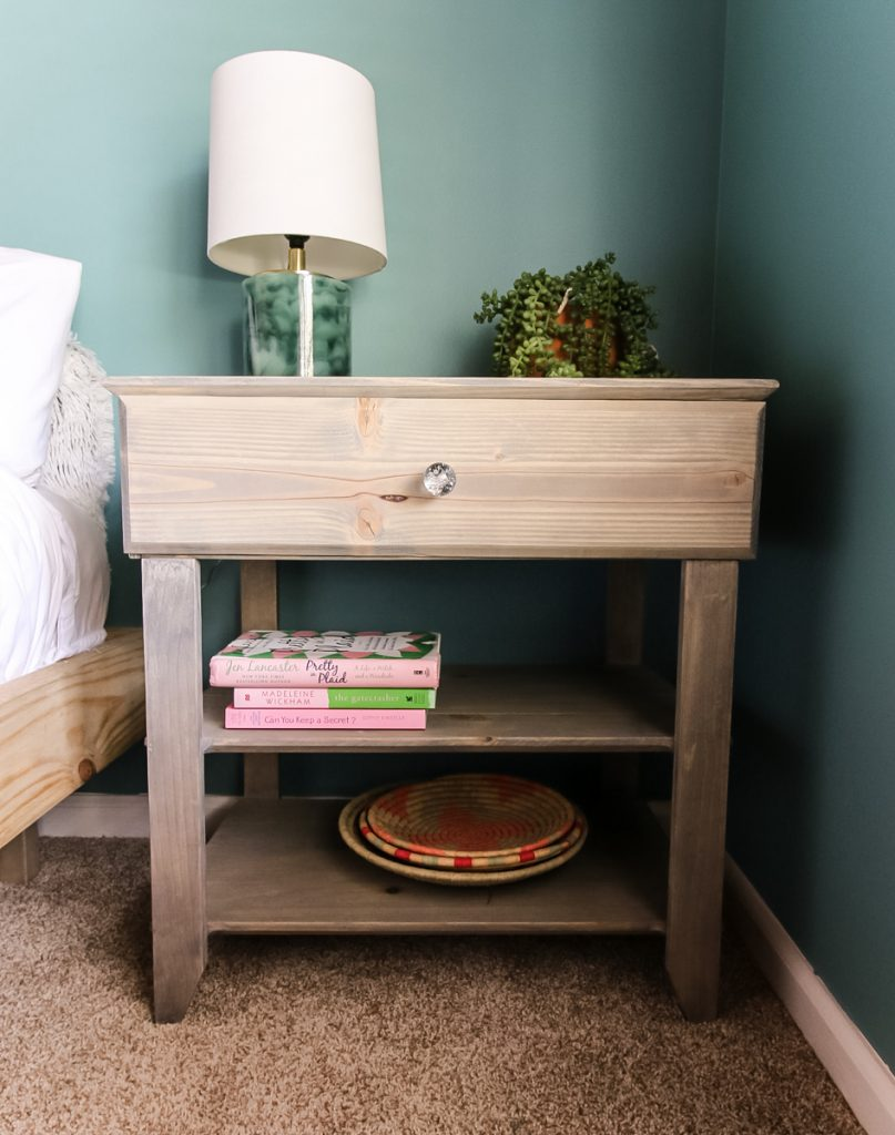 DIY Nightstand with Drawer and Shelves - Charleston Crafted