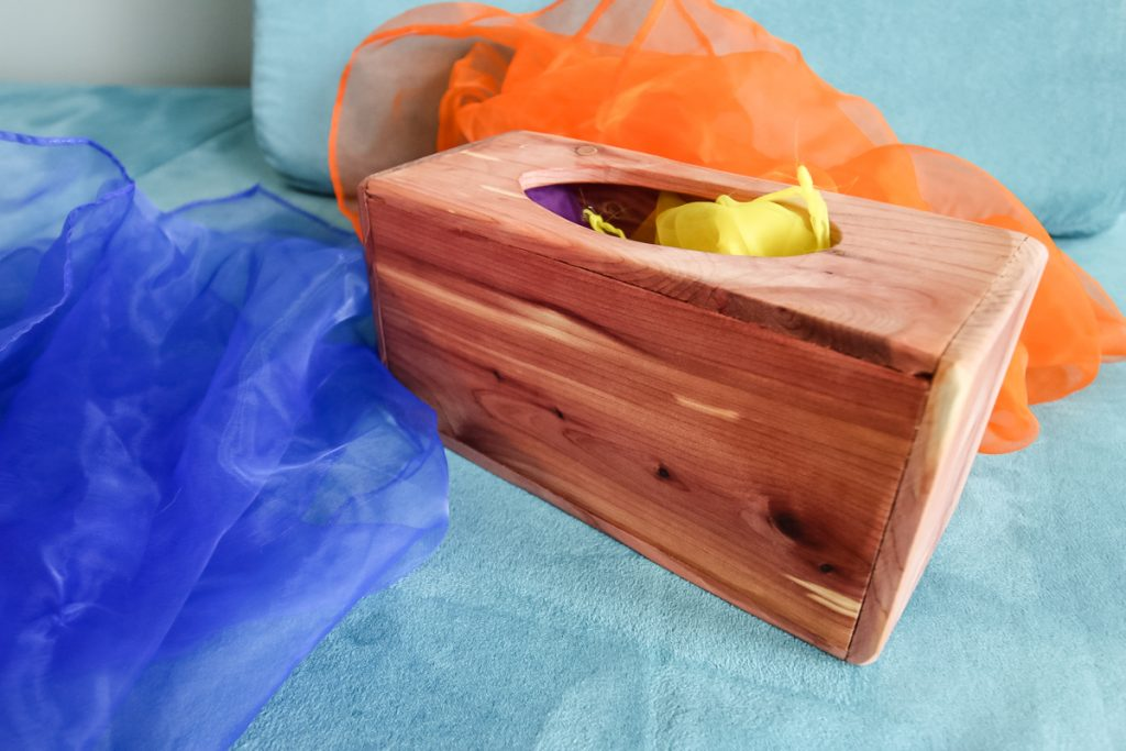 After photo of DIY magic tissue box