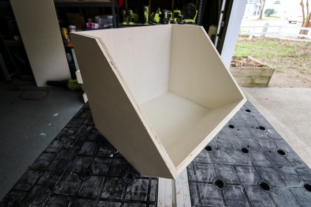 Finished lower storage bin