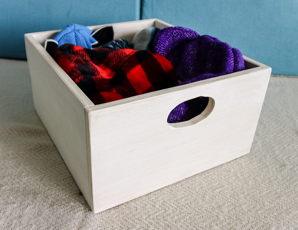 Simple Upper Wooden Storage Bin