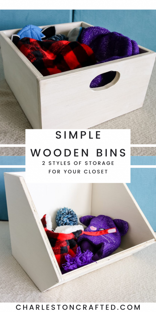 Simple Wooden Bins