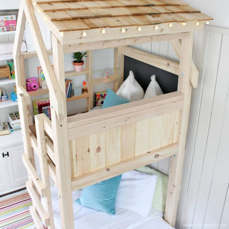 DIY Over Bed Kids Loft - Jaime Costiglio