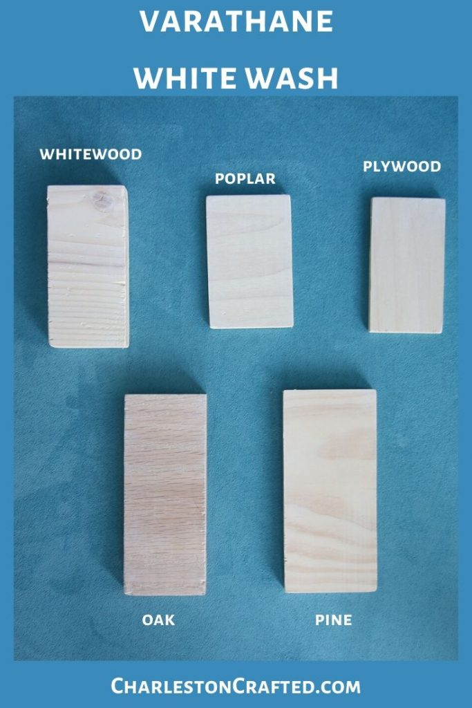 varathane white wash wood stain on white wood, poplar, pine, oak, plywood