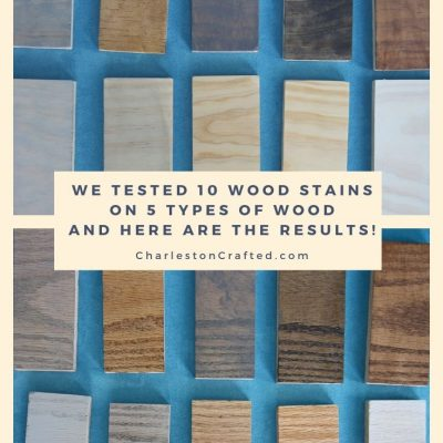 We tested 10 stains for wood on 5 species of wood – here's the results!