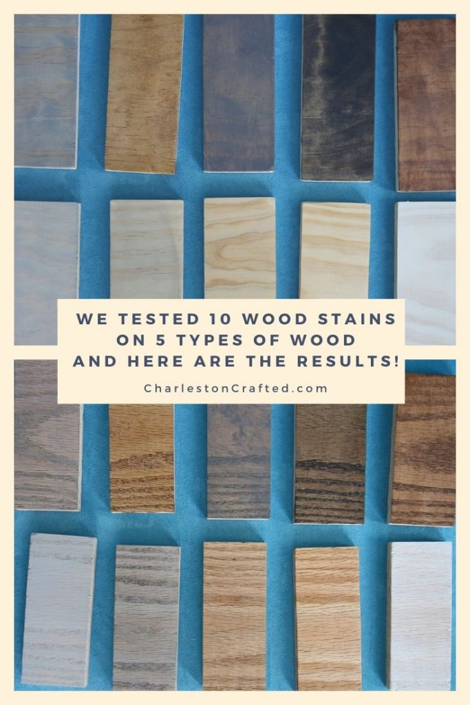 we tested 10 wood stains on 5 types of wood and here are the results