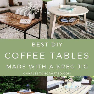 18 Kreg Jig Coffee Table Ideas