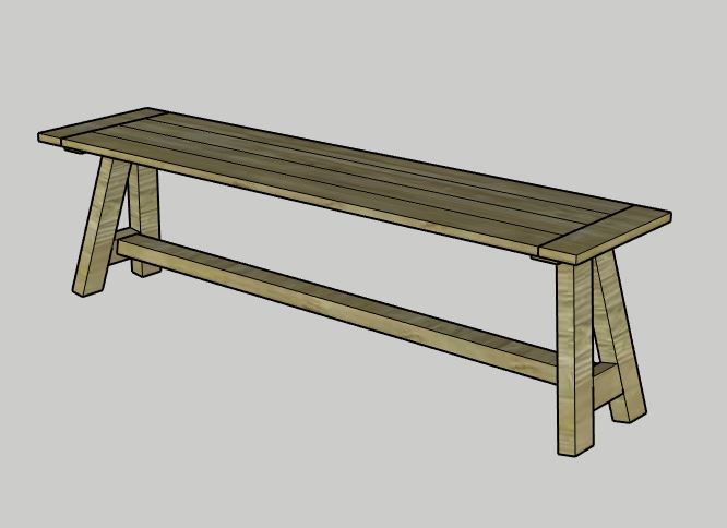 Computer Model of Angled Bench