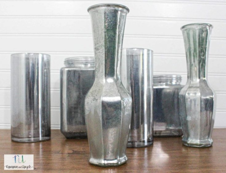 DIY Mercury Glass with Krylon Looking Glass Spray Paint