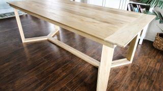 DIY Angled Base Dining Table