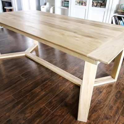 DIY Angled Base Dining Table