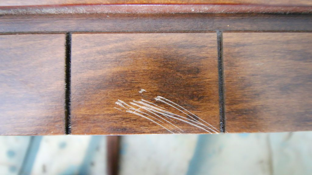 Scratch on furniture