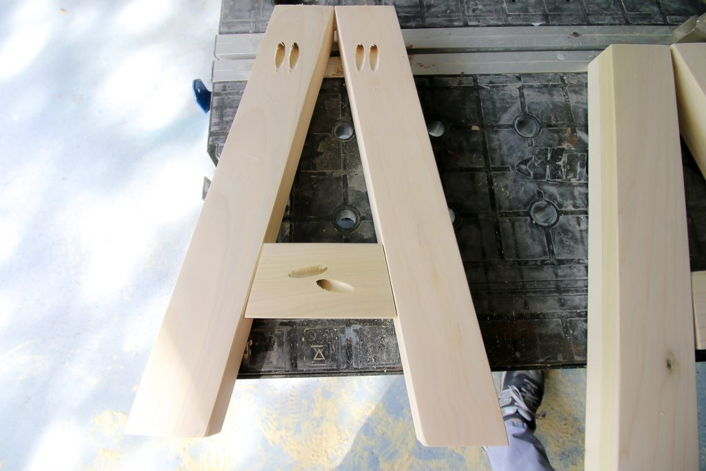A-Frame legs for angle bench