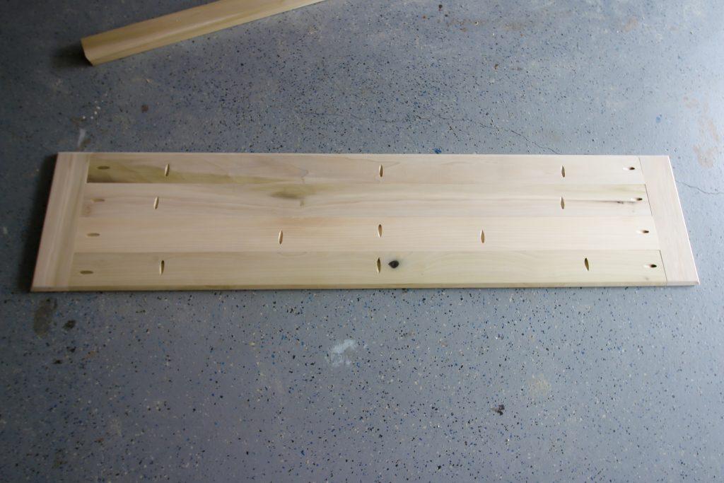 Underside of bench top
