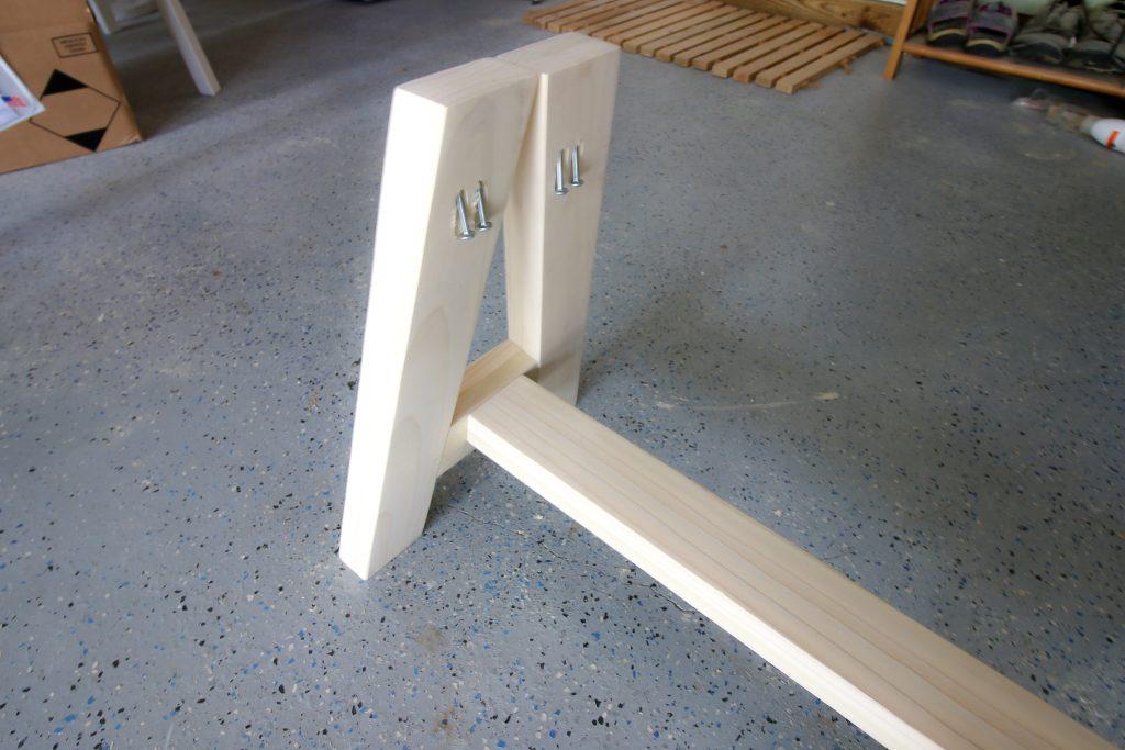 Leg for bench
