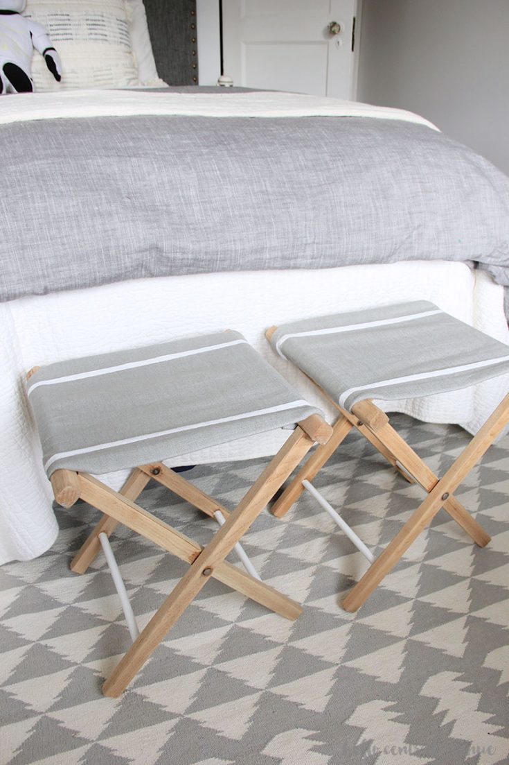 Upcycled Folding Stools: At Home DIY Challenge