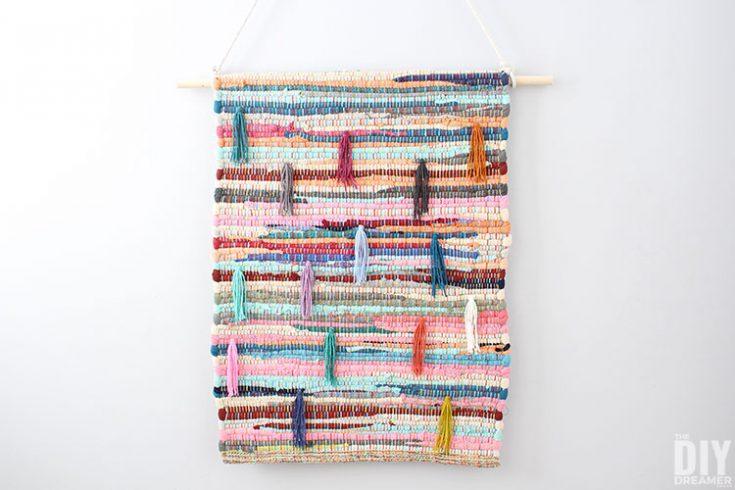 Upcycled Rug Wall Hanging
