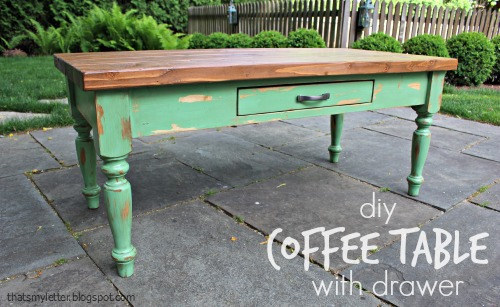 DIY Coffee Table (with drawer) - Jaime Costiglio