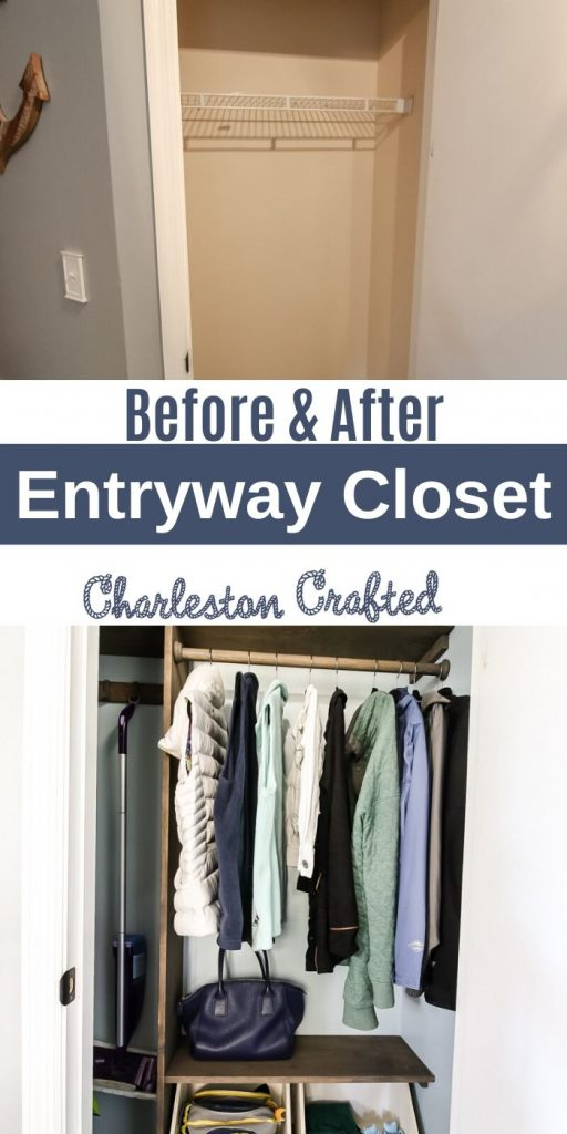 entryway closet makeover before and after
