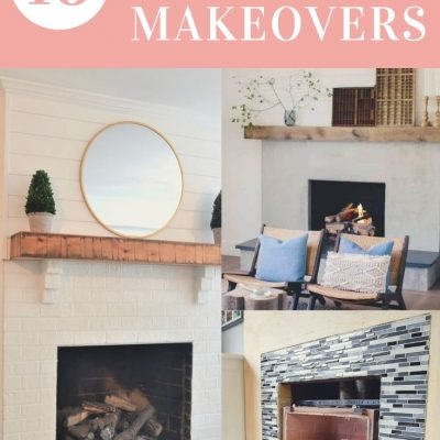 16 Red brick fireplace makeover ideas