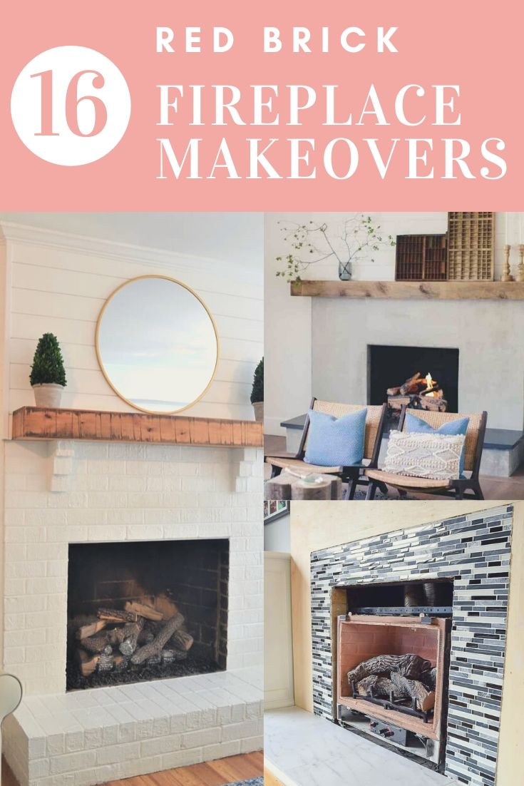 Image of: 16 Red Brick Fireplace Makeover Ideas