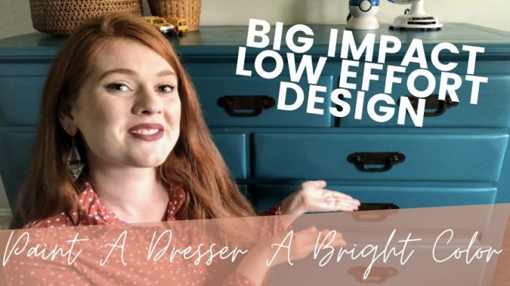 How To Paint A Teal Dresser | Easy Big Impact Design