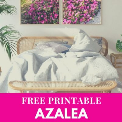 FREE Printable Spring Azalea Photography