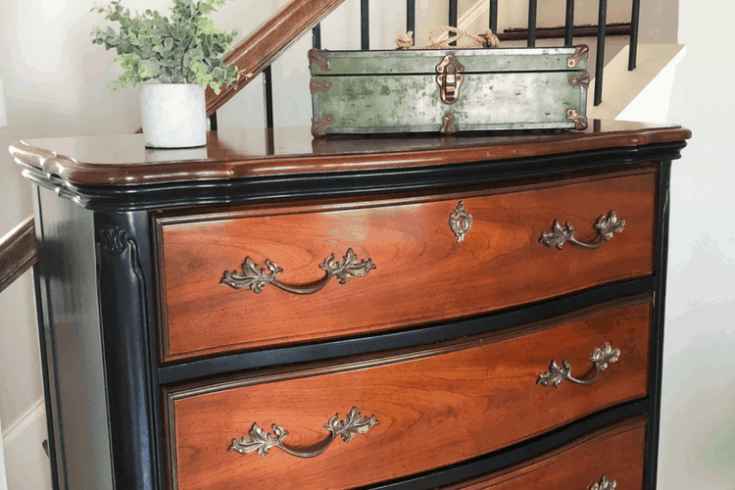 How To Make Dated Look Sophisticated – Black Dresser Makeover