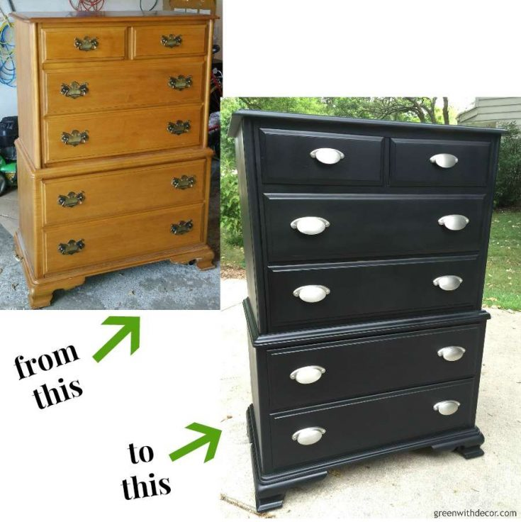 A dresser makeover with spray paint – Green With Decor