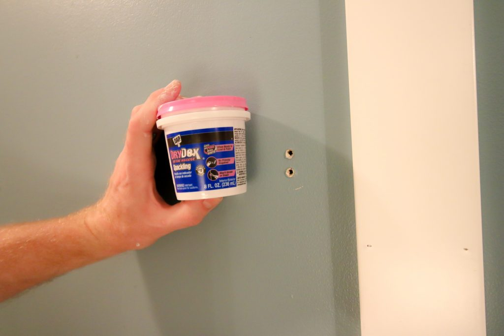 Spackle on wall holes