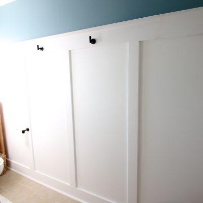 Easy DIY board and batten wall