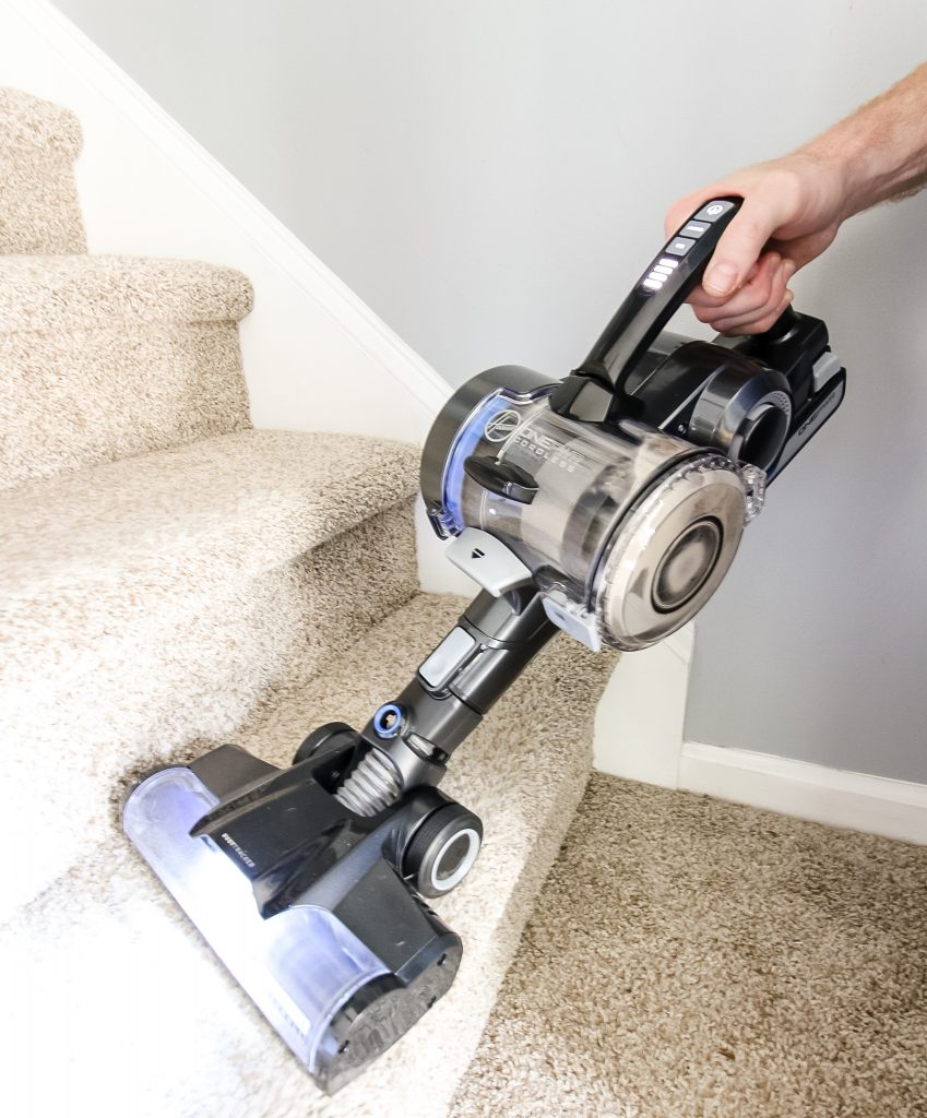 Hoover Blade MAX on stairs