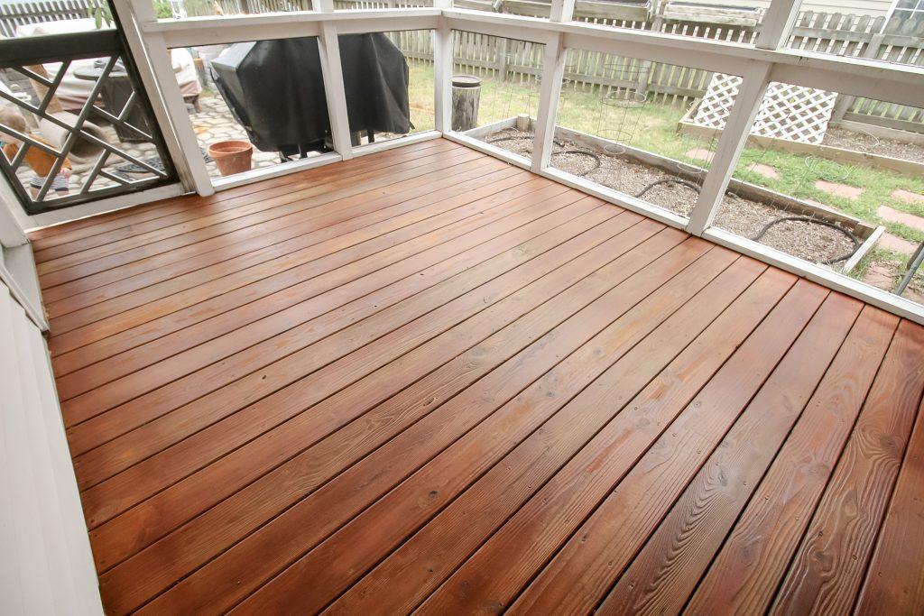 Final deck after spray