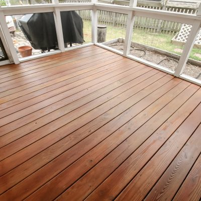 How to re-stain a deck with a sprayer
