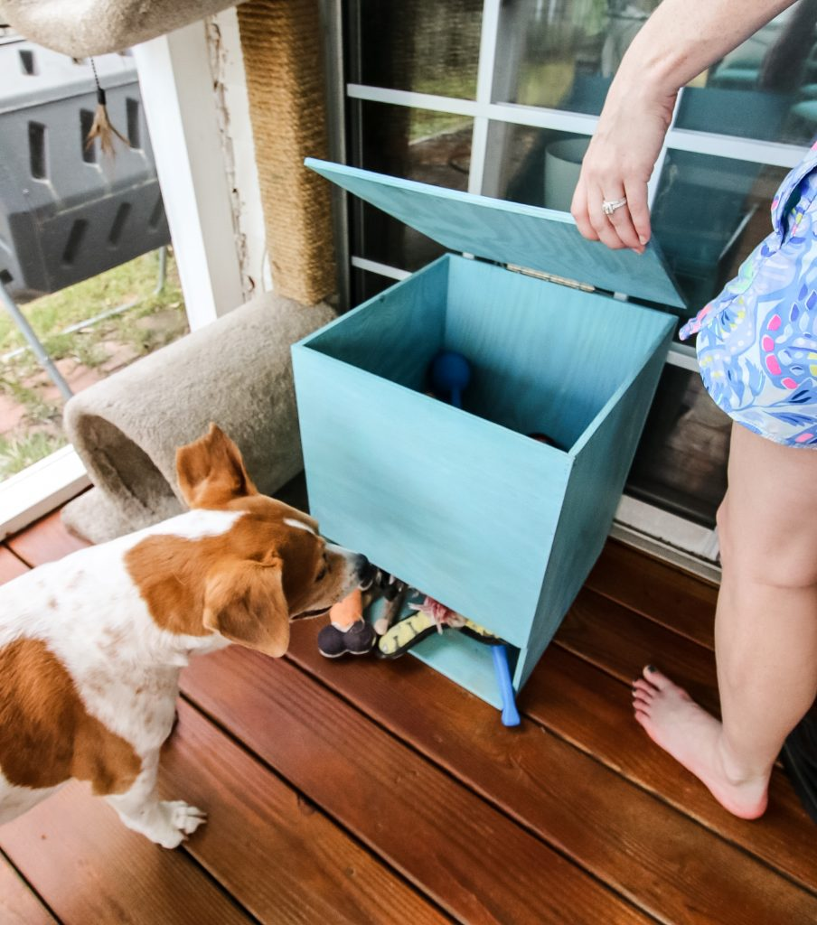 Opening Dog Toy Storage Bin