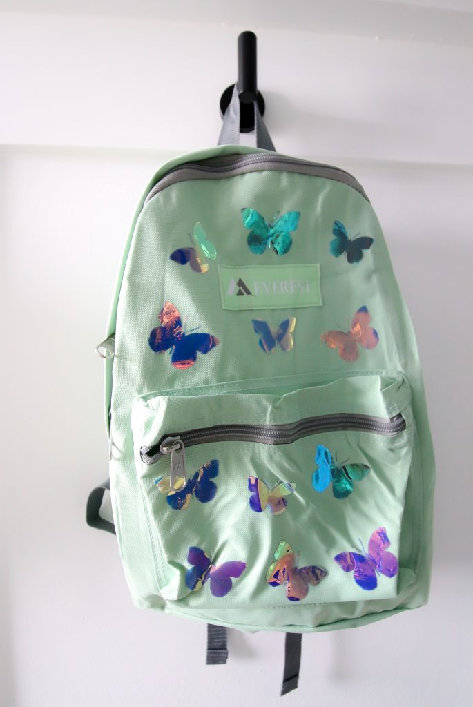 holographic butterfly backpack cricut