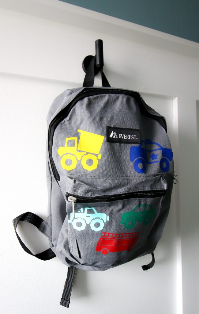 truck backpack cricut - dump truck, police car, fire truck, car