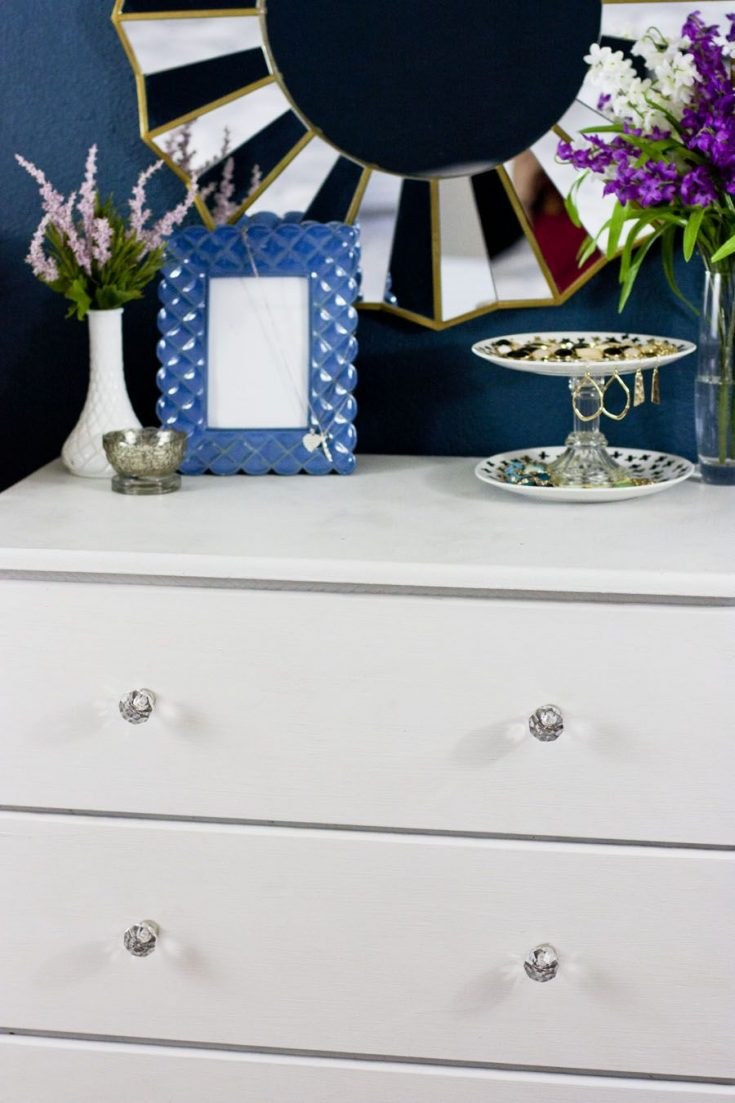 From Dated Pine To Feminine White, A Painted Dresser Transformation