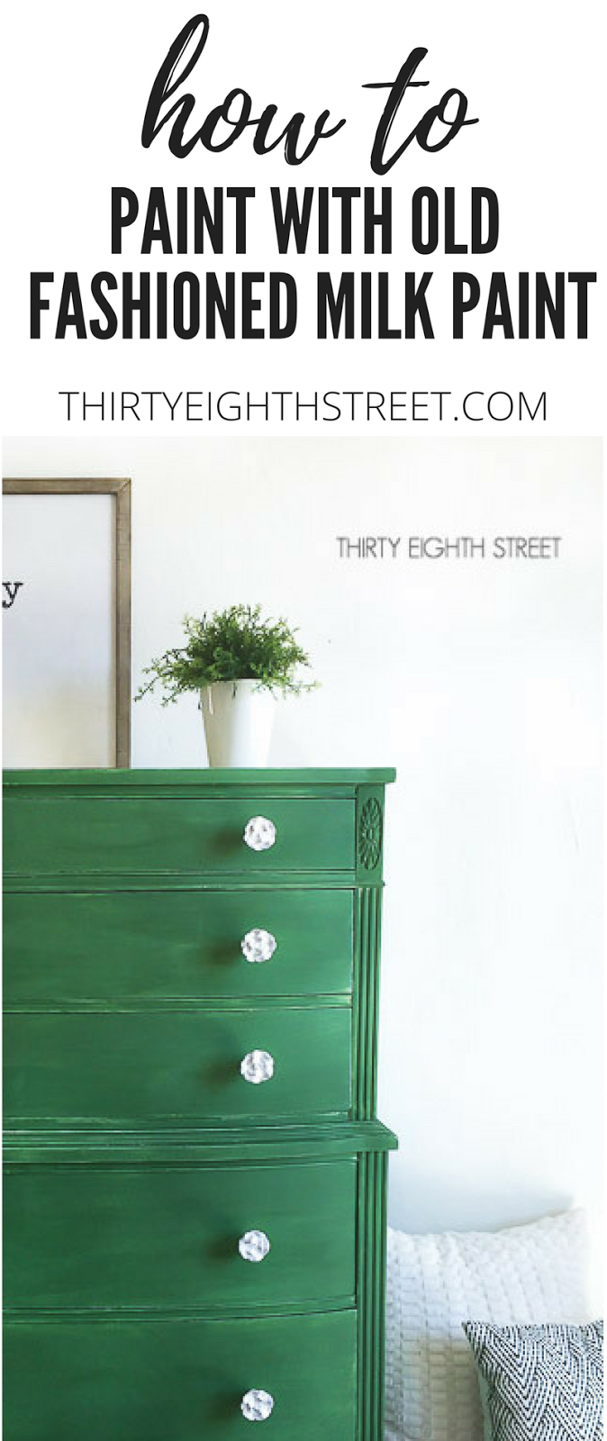 Old Fashioned Milk Paint Company Green Painted Dresser
