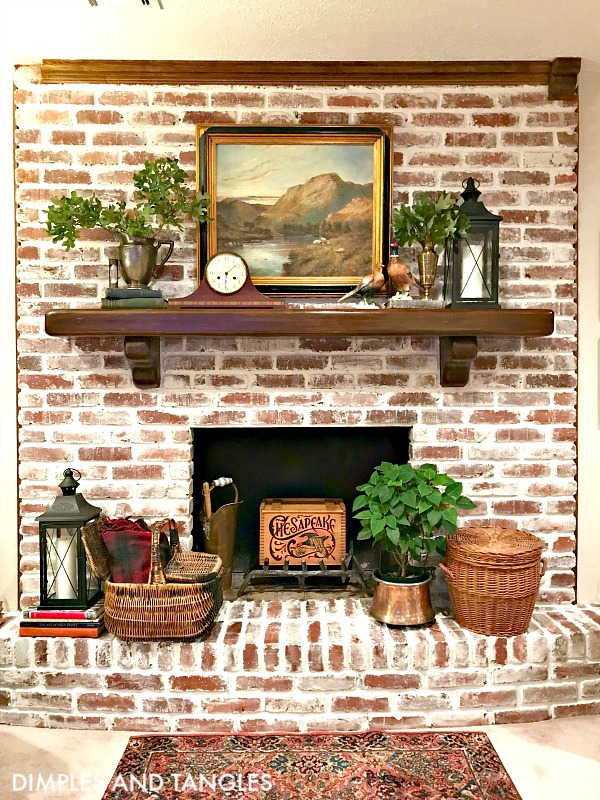 MORTAR WASH BRICK FIREPLACE MAKEOVER