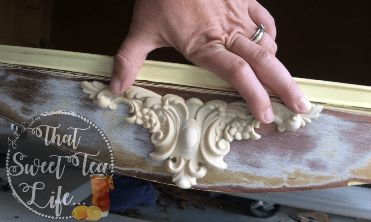 How to Apply Furniture Appliques to Save an Old Dresser