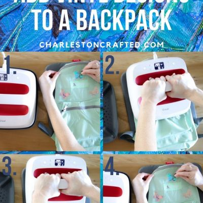 Personalized Backpacks with a Cricut for The Blue Ribbon Project