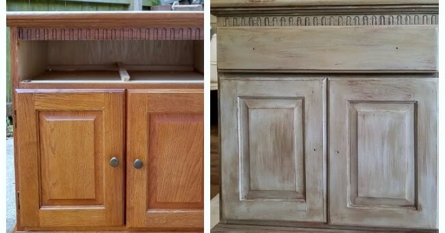 Weathered Wood Makeover on Oak Dressers