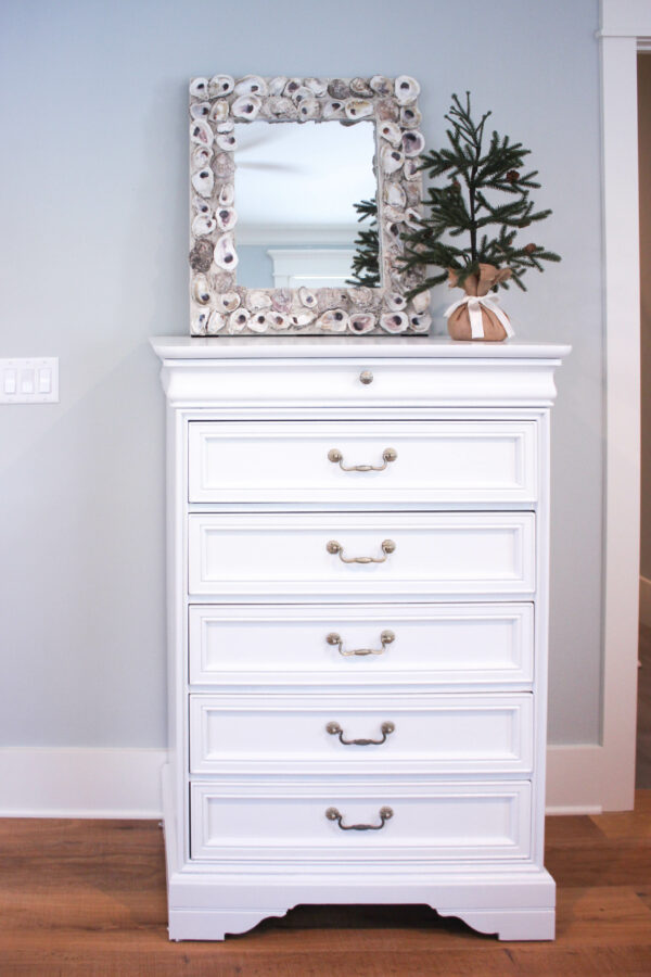 How to Paint Over Bright Colored Furniture-Dresser Makeover
