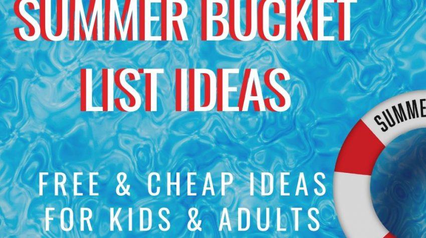 FREE printable summer bucket list ideas