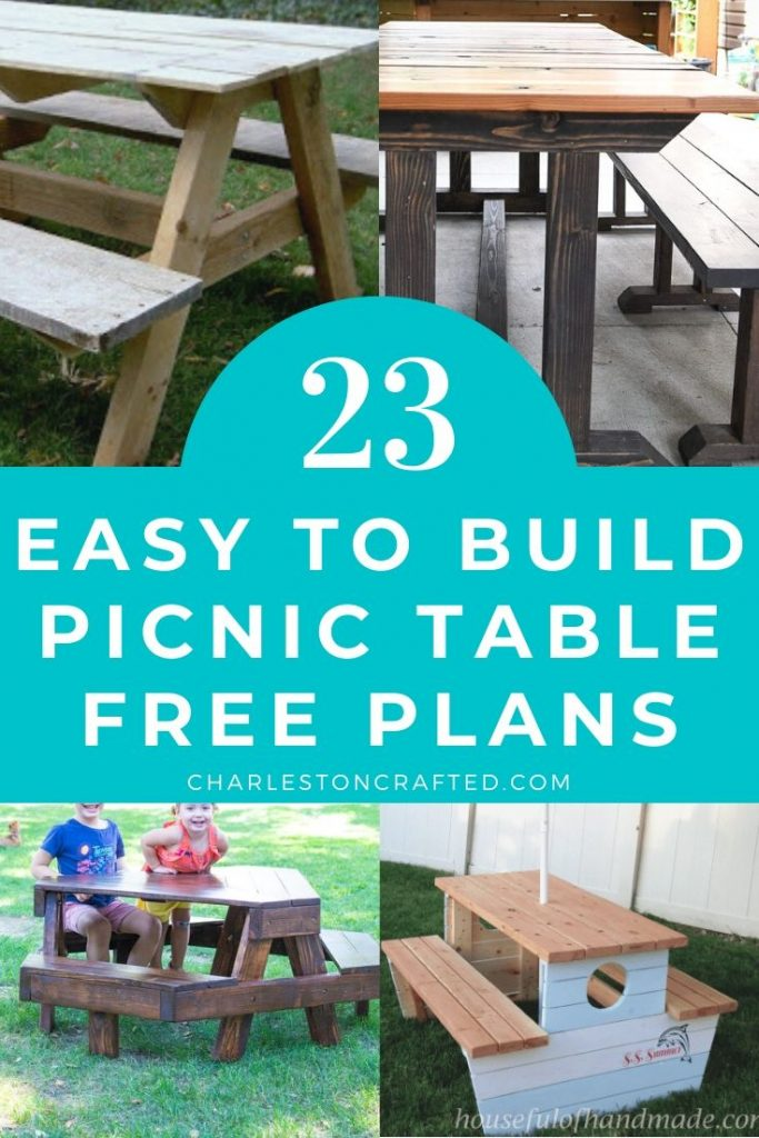 23 easy to build DIY picnic table ideas
