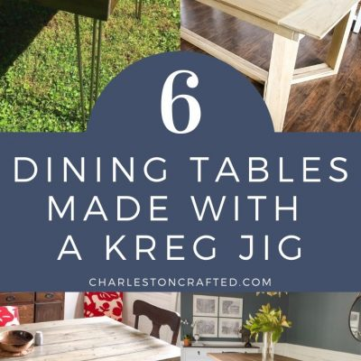 6 Dining Room Tables Built with a Kreg Jig – Free Plans & Ideas!