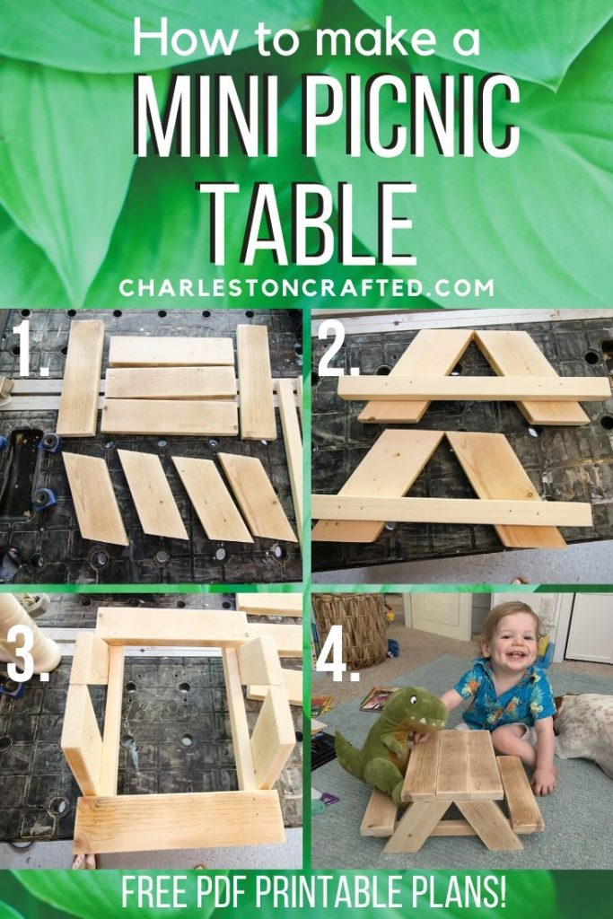 How to build a DIY Mini Picnic Table - FREE printable plans